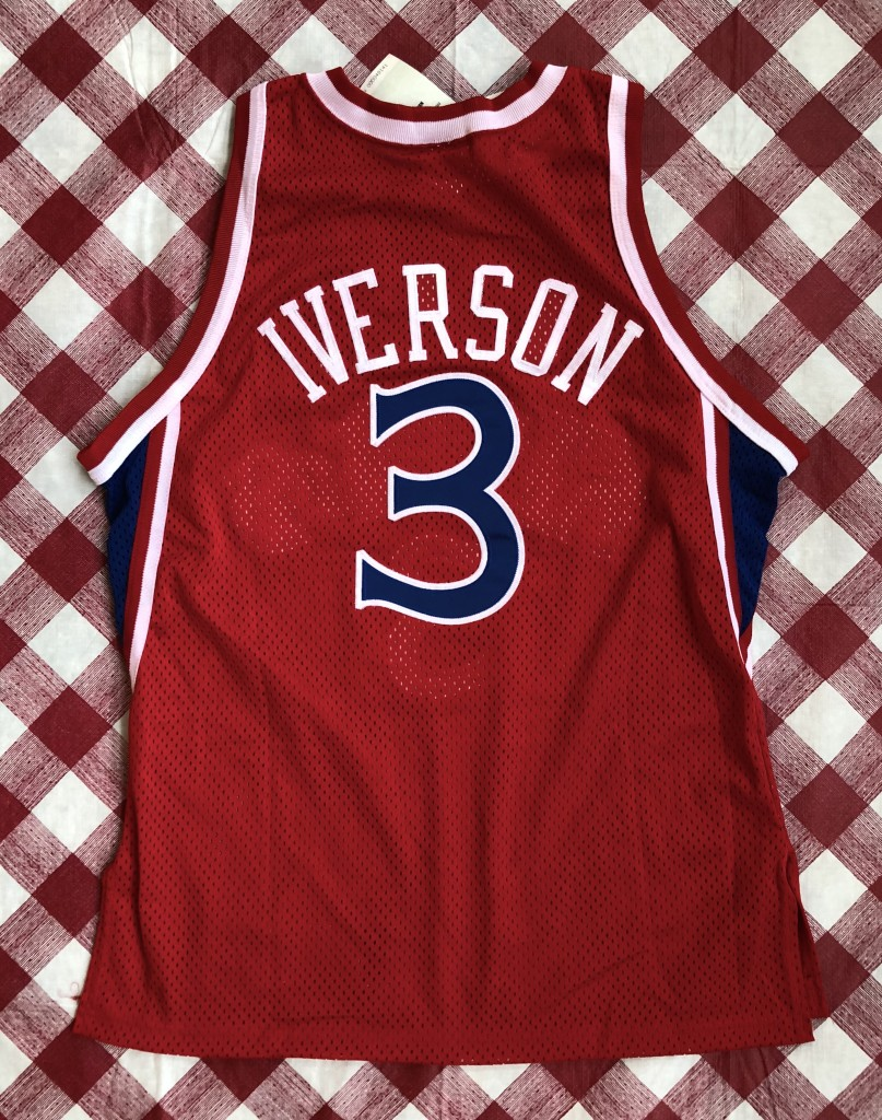 3ae75b6c196 vintage 1996-97 Philadelphia Sixers 76ers Champion Authentic Allen Iverson  red rookie nba jersey size