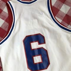 vintage 80's Philadelphia Sixers 76ers Julius Erving Sandknit NBA jersey size Medium