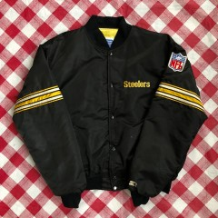 Vintage 90s Pittsburgh Steelers starter satin nfl jacket size xl