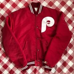 80's Philadelphia Philles Maroon Starter Satin MLB Jacket Size Large
