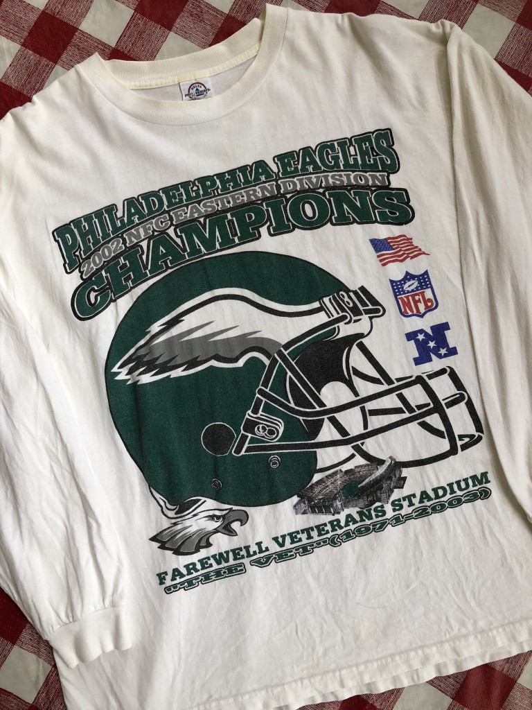 2002 Philadelphia Eagles NFC East Champs Long Sleeve NFL T-Shirt Size XL  850c13555