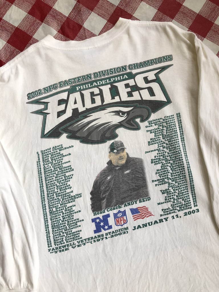 2002 Philadelphia Eagles NFC East Champs Long Sleeve NFL T-Shirt Size XL 954cf7660