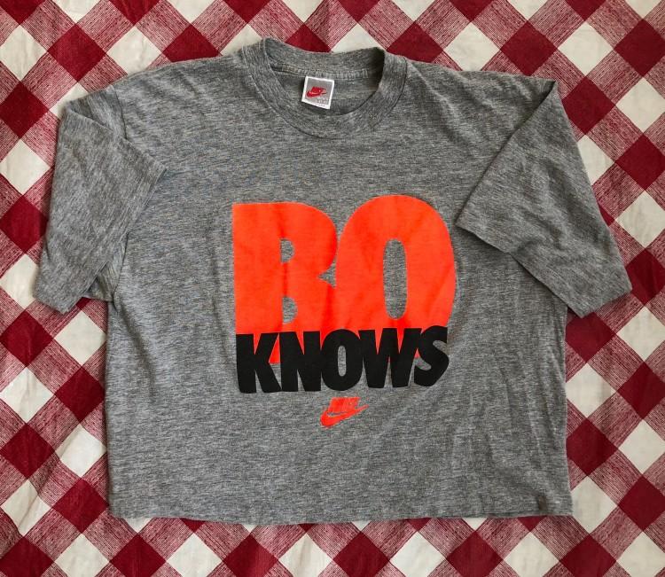 top quality size 40 lowest price 90's Nike Bo Knows Bo Jackson T Shirt Grey
