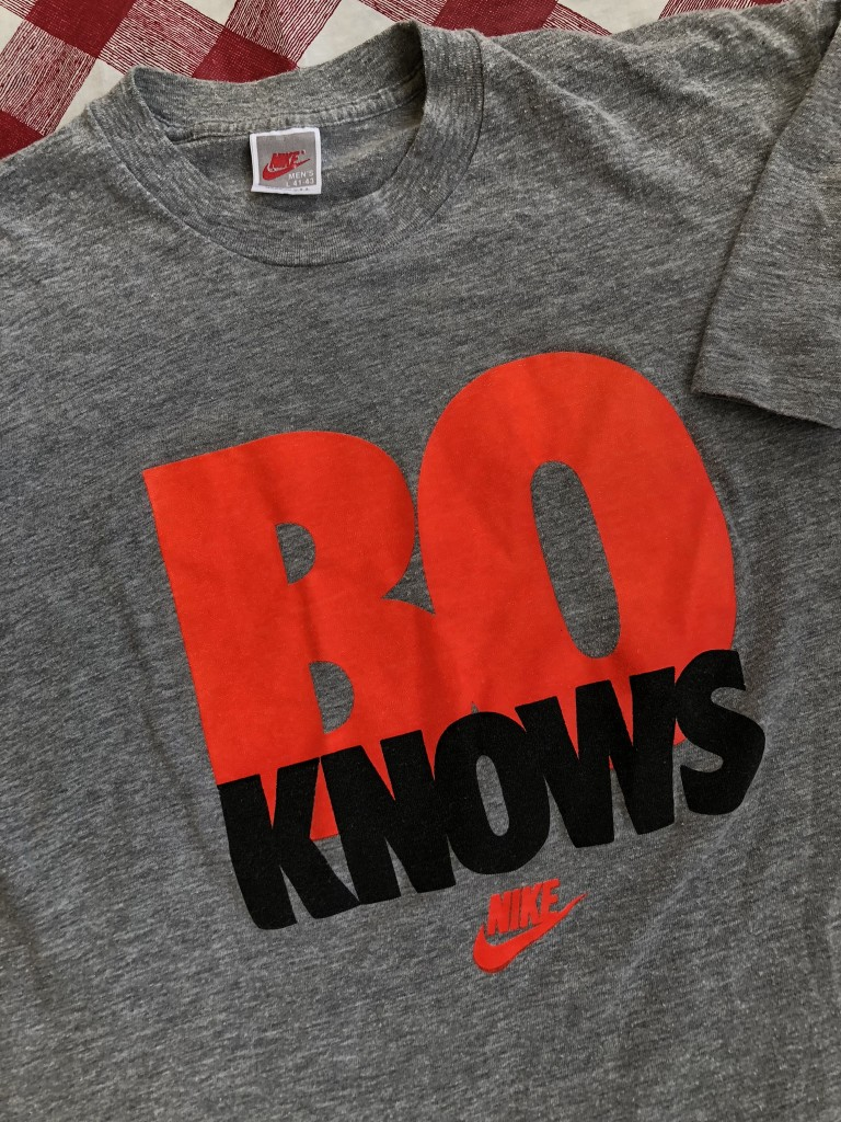 hot sale online ae8a3 4d823 90's Nike Bo Knows Bo Jackson T Shirt Grey