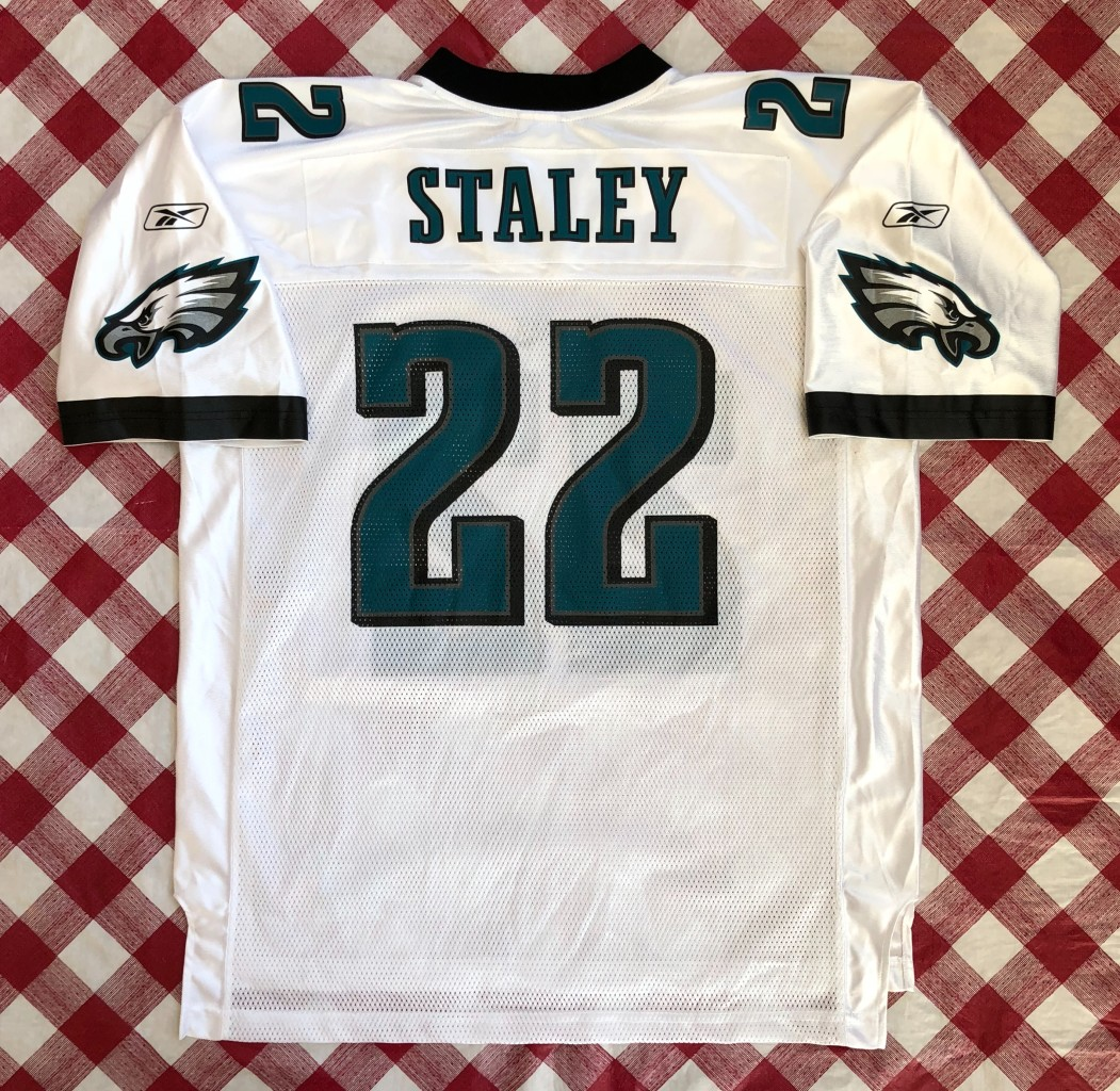 71695be7 2003 Duce Staley Philadelphia Eagles Reebok NFL Jersey Size XL