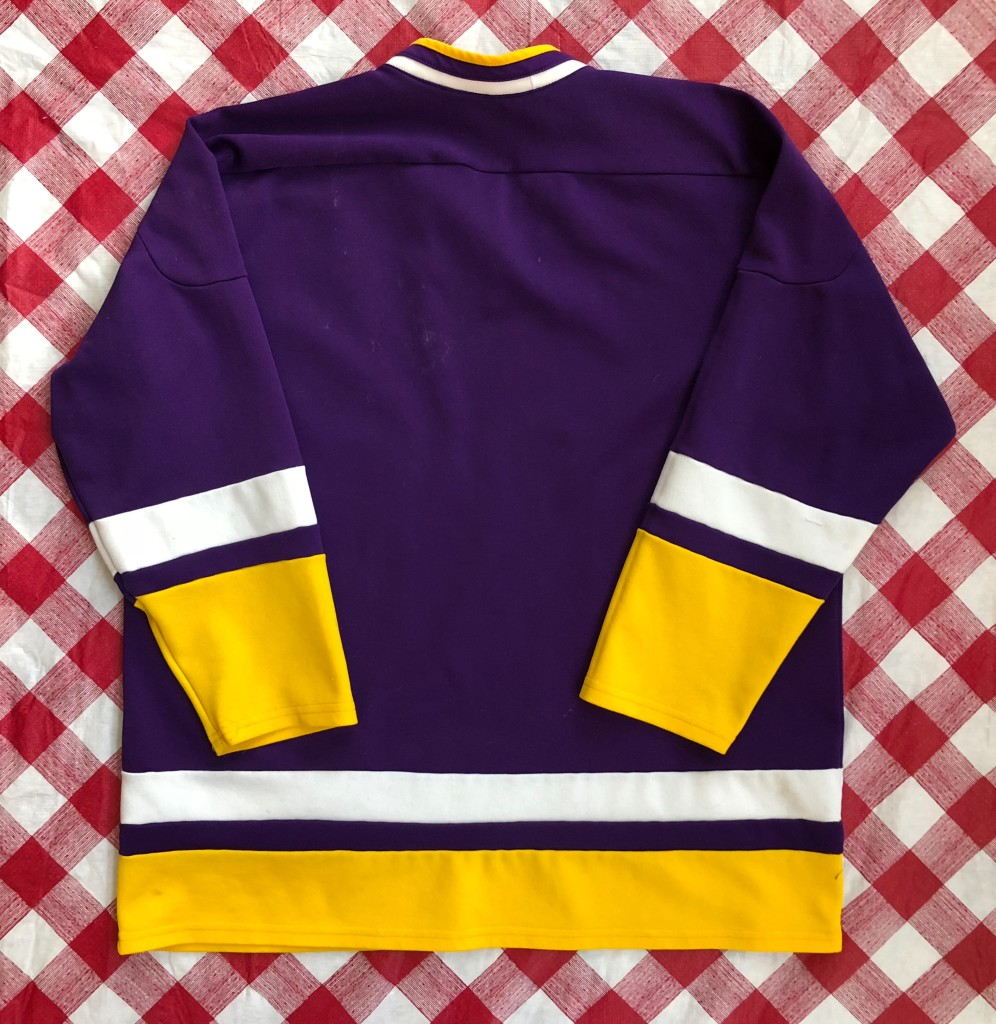 2d880690023d 90 s Nike Grey Tag Purple Yellow Hockey Jersey Size Large