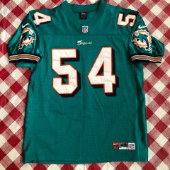 2000 Zach Thomas Miami Dolphins Authentic Nike NFL Jersey Size 48