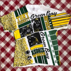90's Green Bay Packers Sportees All Over Print NFL Shirt Size XL
