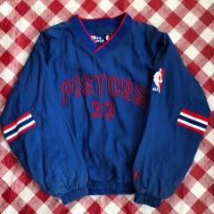 90's Detroit Pistons Grant Hill Pro Player Windbreaker Jacket Size Large