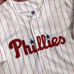 2001 Pat Burrell Philadelphia Phillies Russell MLB Jersey