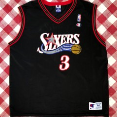 2001 Allen Iverson Philadelphia Sixers Champion NBA Jersey Size 44