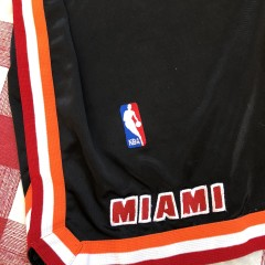 90's Miami Heat Authentic Black Nike NBA Shorts