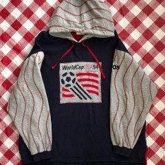 1994 Adidas World Cup Hooded Sweatshirt Size XL