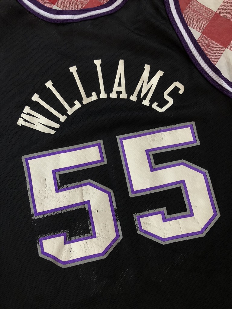1dce06a30 2001 Jason Williams Sacramento Kings Black Champion NBA Jersey Size ...