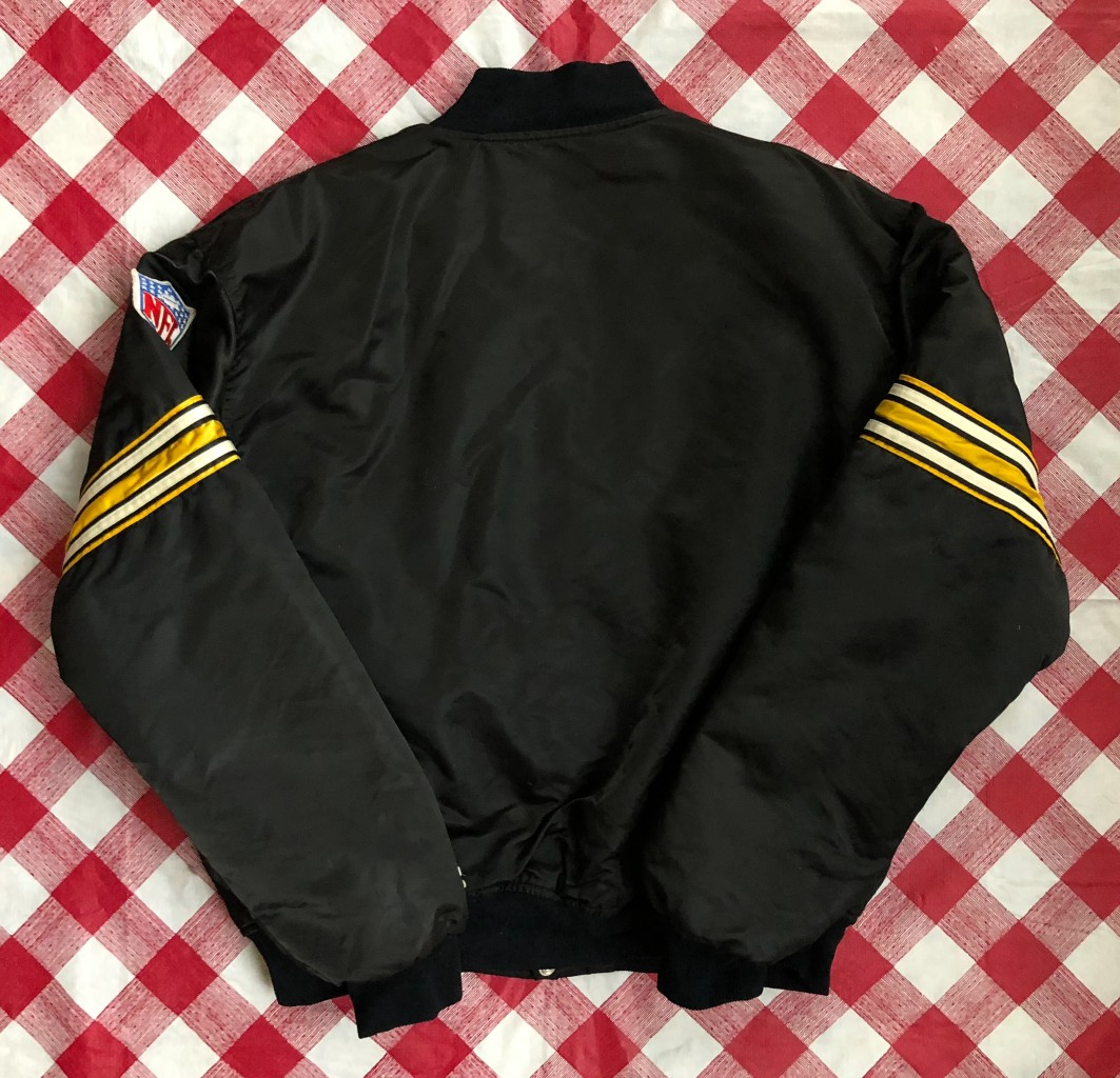 more photos b3f66 061d3 90's Pittsburgh Steelers Starter Satin NFL Jacket Size XL