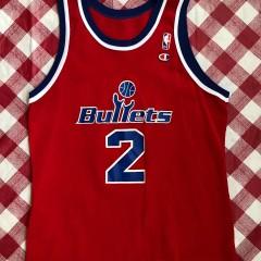 1995 Chris Webber Washington Bullets Champion NBA Jersey Size 44