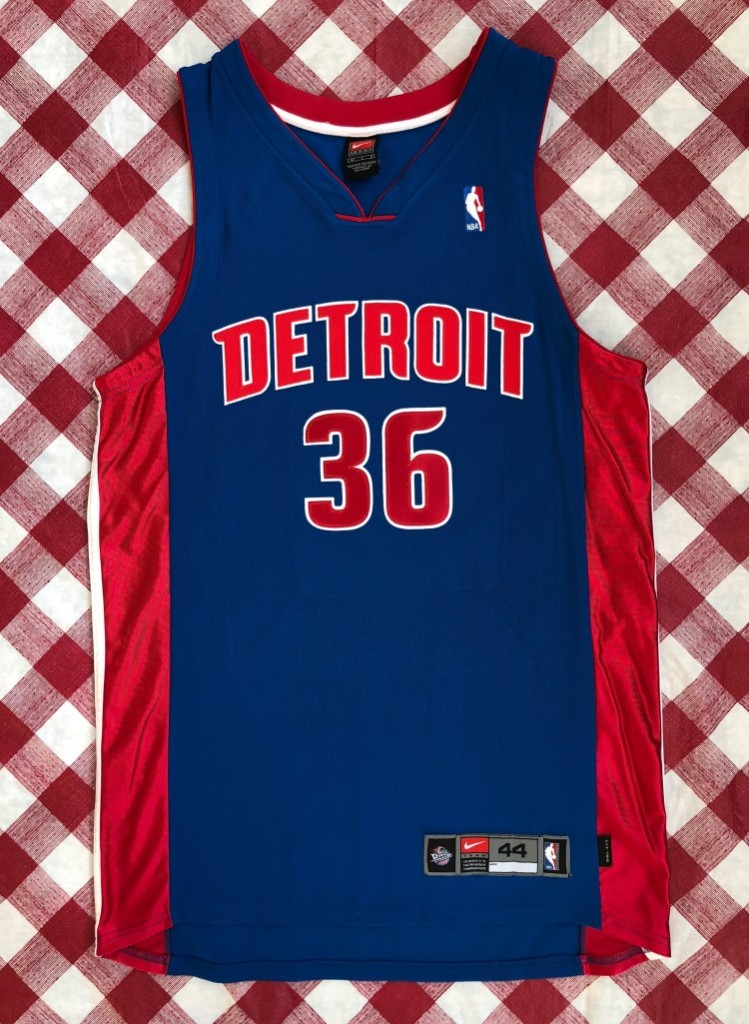 e7edbb9ed 00 s Rasheed Wallace Detroit Pistons Nike Authentic NBA Jersey Size ...