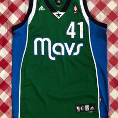 2006 Dirk Nowitzki Dallas Mavericks Green Alternate Adidas NBA Jersey Size Medium