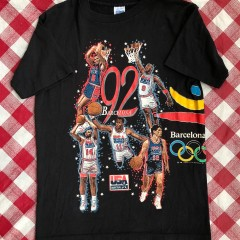 1992 Dream Team USA Barcelona Olympics Salem T Shirt Size Large