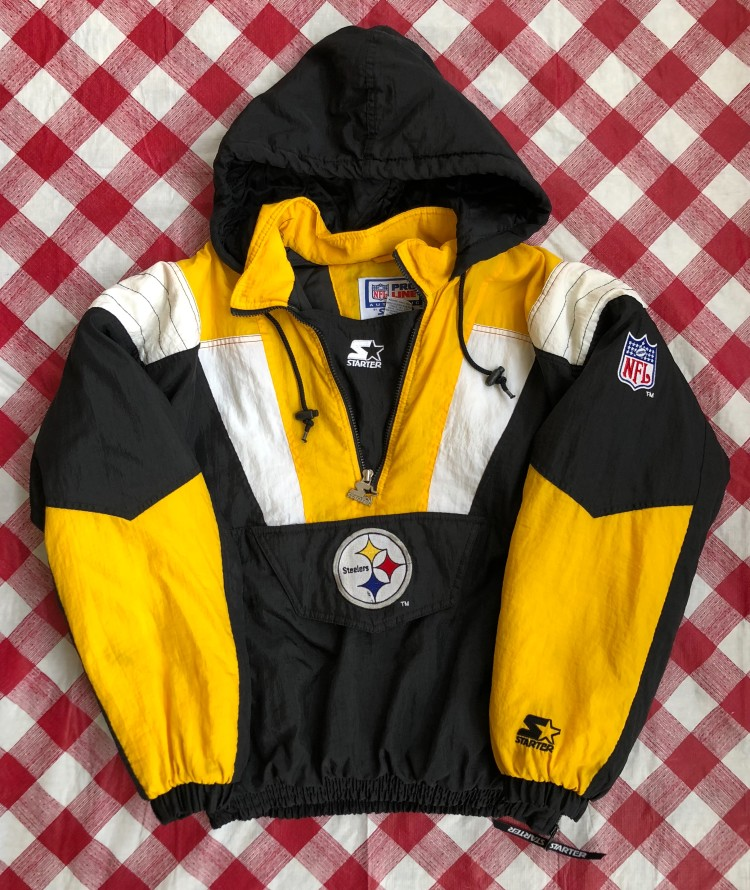 half off 8a4ab 16ed7 90's Pittsburgh Steelers Starter Pullover Jacket Size Medium