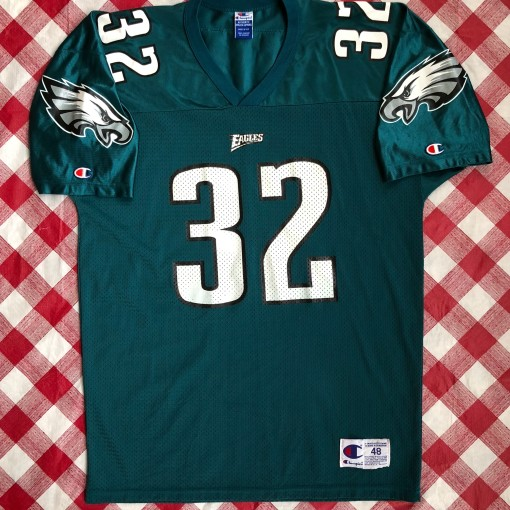 Vintage 90s Philadelphia eagles Ricky waters champion NFL jersey size 48X out  vintage 90s Philadelphia eagles Ricky waters champion NFL jersey size 48 xl