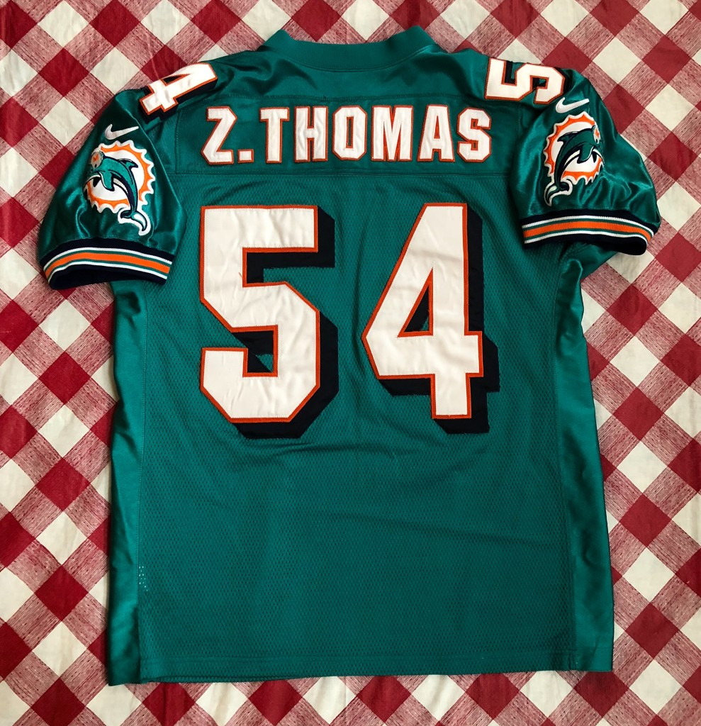 low priced d1948 9de7f 2000 Zach Thomas Miami Dolphins Authentic Nike NFL Jersey Size 48