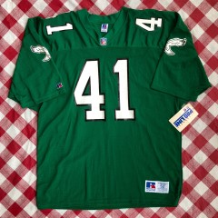Vintage 90s Keith Byars Philadelphia Eagles Russell authentic pro line nfl jersey size 52