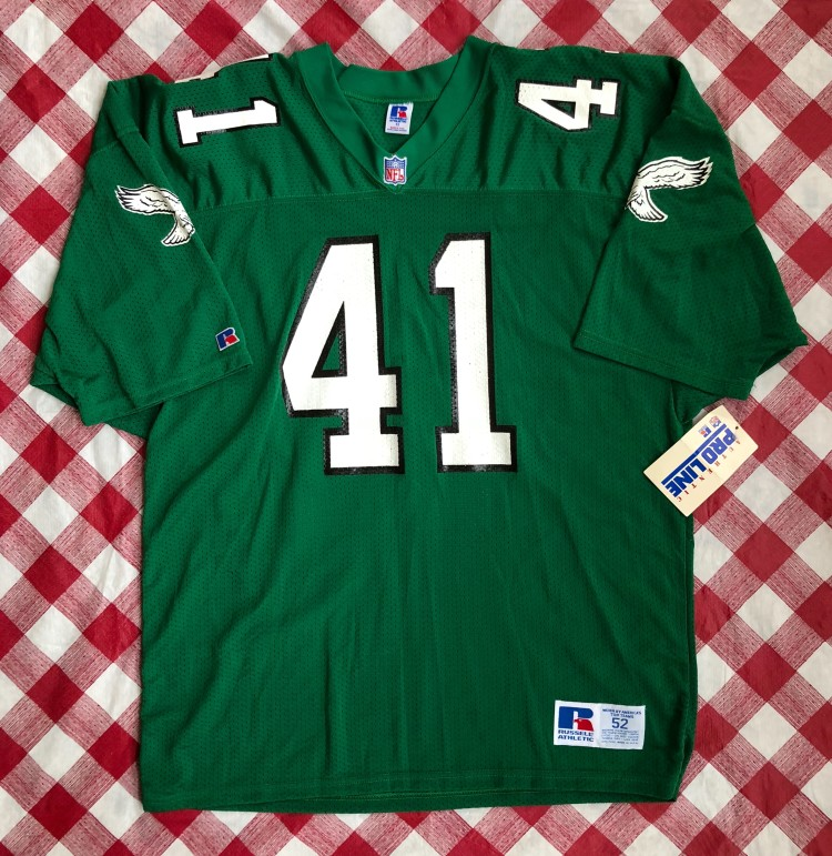 2846328d684 Vintage 90s Keith Byars Philadelphia Eagles Russell authentic pro line nfl jersey  size 52