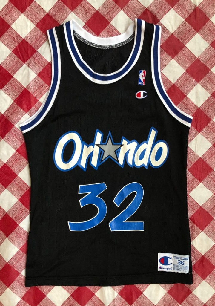 92de0bb9d73 1993 Shaquille O Neal Orlando Magic Champion NBA Jersey Size 36 ...