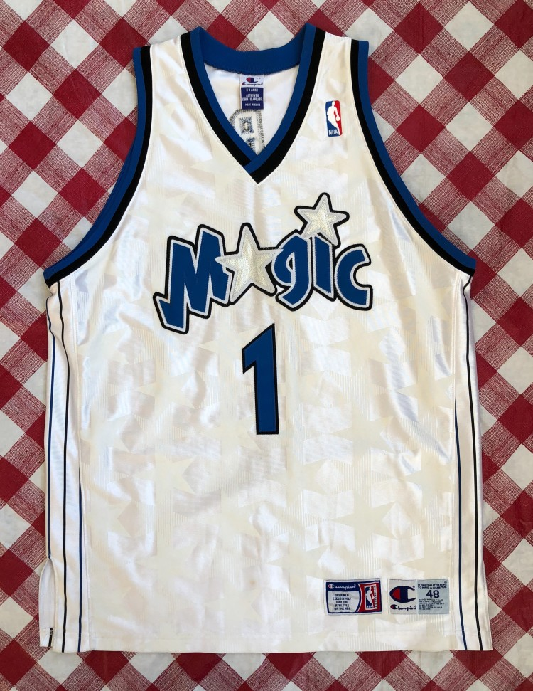sale retailer d8d74 48e6e tracy mcgrady magic jersey white