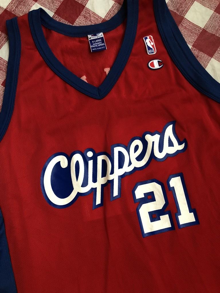 436334d0d1e 2001 Darius Miles Los Angeles Clippers Champion NBA Jersey Size 48 ...