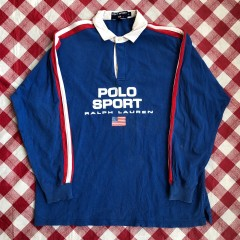 90's Polo Sport Spell Out Rugby Shirt Size XL