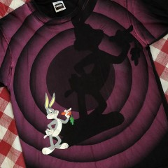 1992 Bugs Bunny Looney Tunes Double Sided Tultex T-Shirt Size XL