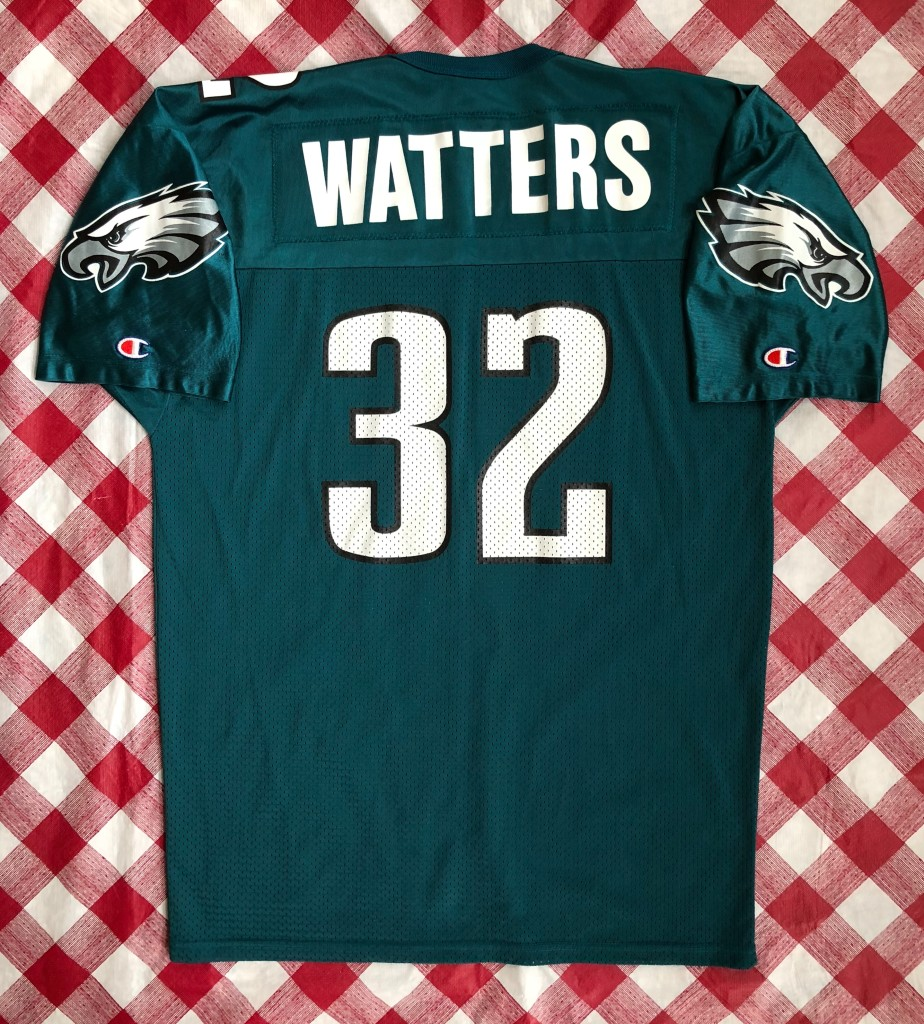 c4b56b2f511 Vintage 90s Philadelphia eagles Ricky waters champion NFL jersey size 48X  out vintage 90s Philadelphia eagles