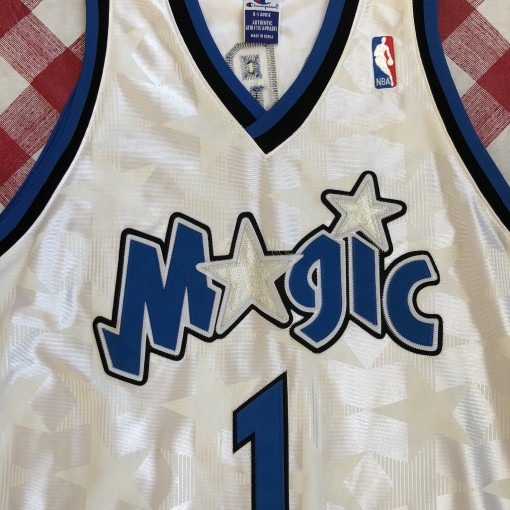 2001 Tracy McGrady Orlando Magic Champion Authentic White NBA Jersey Size 48