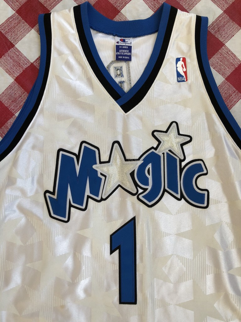 promo code 03560 9e27f 2001 Tracy McGrady Orlando Magic Champion Authentic White NBA Jersey Size 48