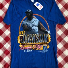 1990 Bo Jackson KC Royals Salem Sportswear MLB T Shirt Size Medium