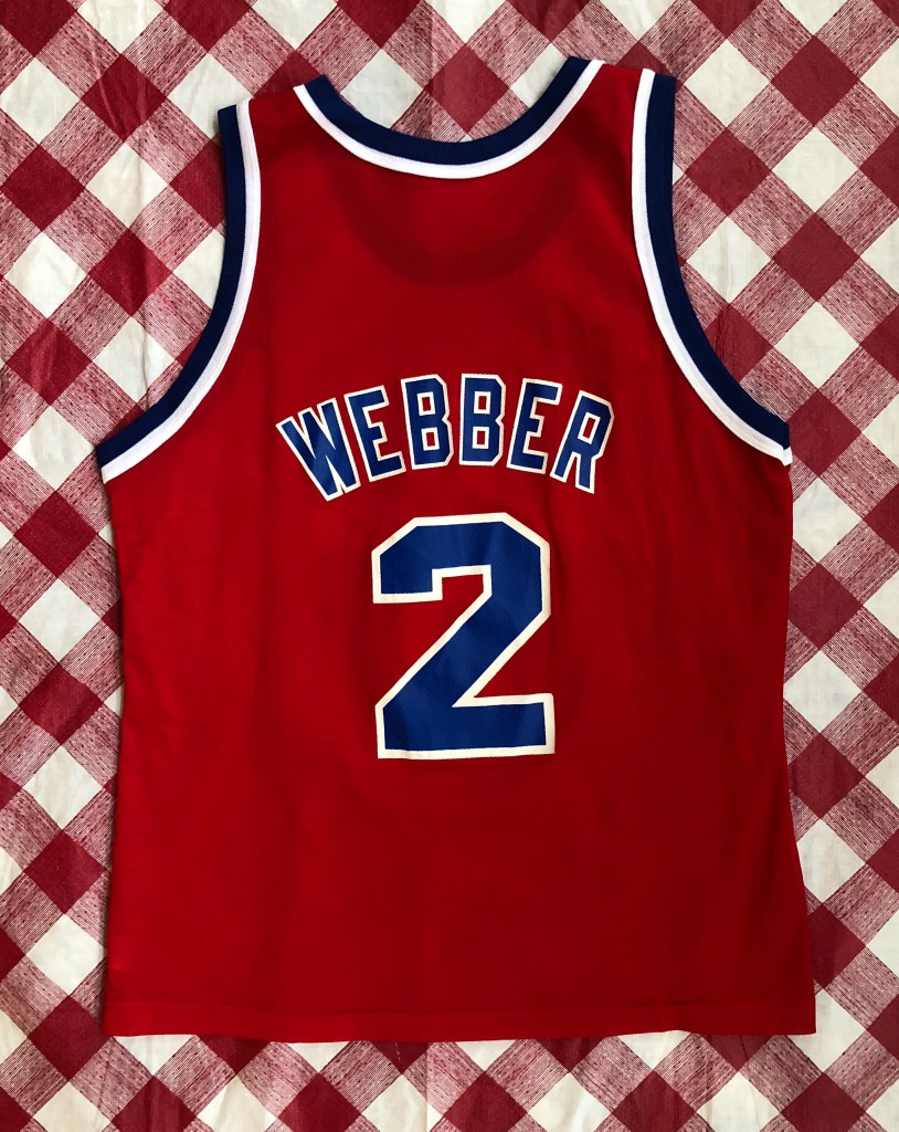 promo code f4fba f5b81 1995 Chris Webber Washington Bullets Champion NBA Jersey Size 44