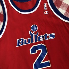 1995 Chris Webber Washington Bullets Champion NBA Jersey Size 44
