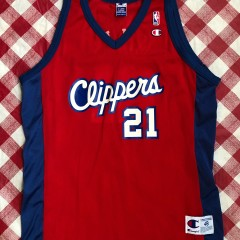 2001 Darius Miles Los Angeles Clippers Champion NBA Jersey Size 48