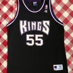 2001 Jason Williams Sacramento Kings Black Champion NBA Jersey Size 44