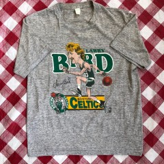 80's Larry Bird Boston Celtics Salem Caricature NBA T Shirt