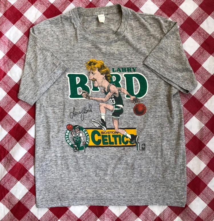 62a7bb693f695 80's Larry Bird Boston Celtics Salem Caricature NBA T Shirt