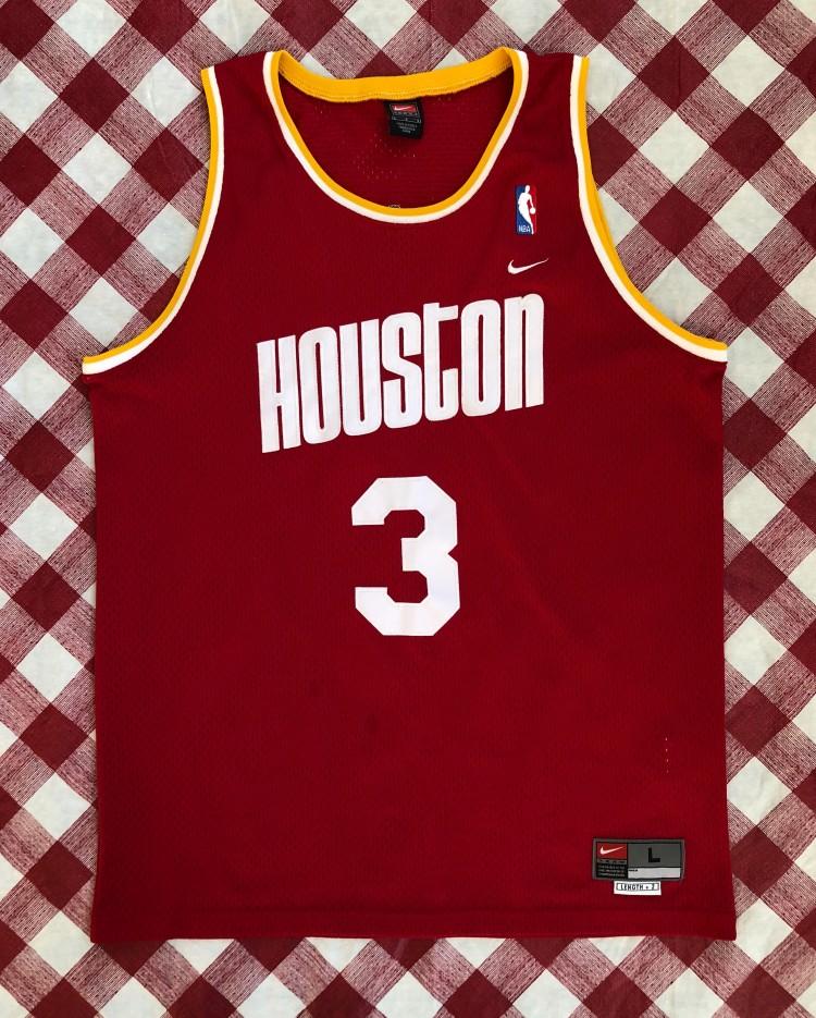 522d6da6b31 2002 Steve Francis Houston Rockets Nike HWC Swingman NBA Jersey Size Large  | Rare Vntg