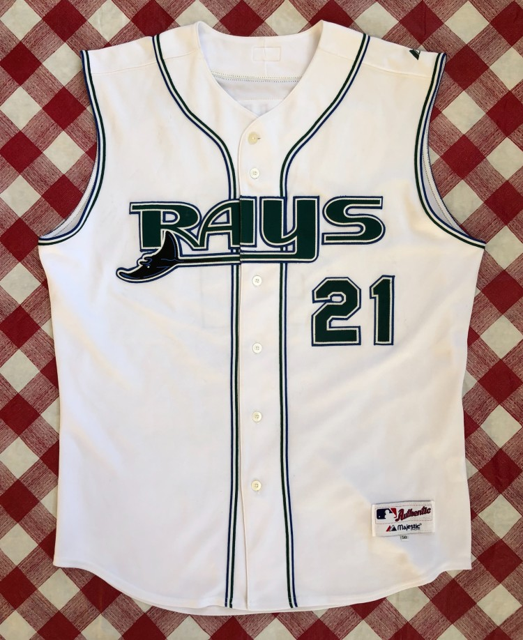 343dd92a8 2006 Ty Wiggington Tampa Bay Devil Rays Authentic Majestic MLB Jersey Size  50 | Rare Vntg