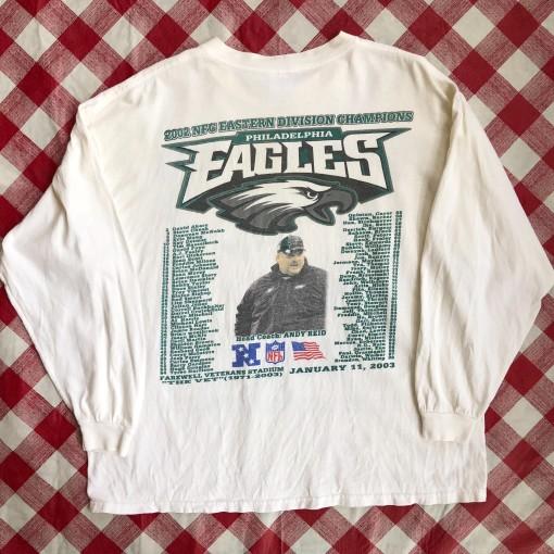 2002 Philadelphia Eagles NFC East Champs Long Sleeve NFL T-Shirt Size XL