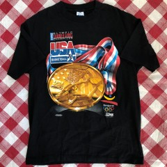 1992 Dream Team USA Barcelona Olympics Champions Salem T Shirt Size Large