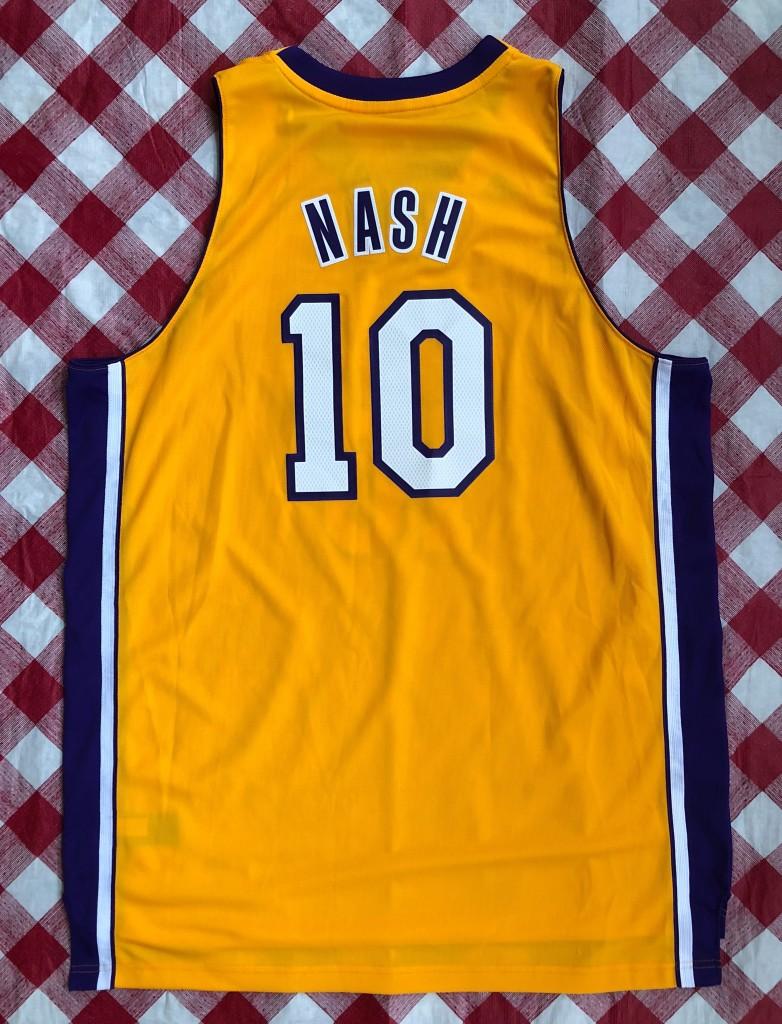 4830e6103ea 2012 Steve Nash Los Angeles Lakers Adidas Swingman NBA Jersey Size ...