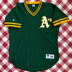1993 Rickey Henderson Oakland Athletics Authentic Russell MLB Jersey Size 48