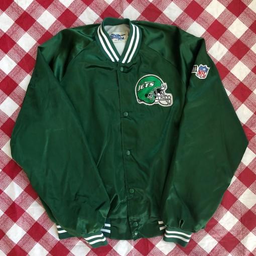 90's New York Jets Chalkline NFL Satin Jacket Size XL